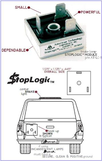 logic boxes for truck cap 3rd brake light wiring